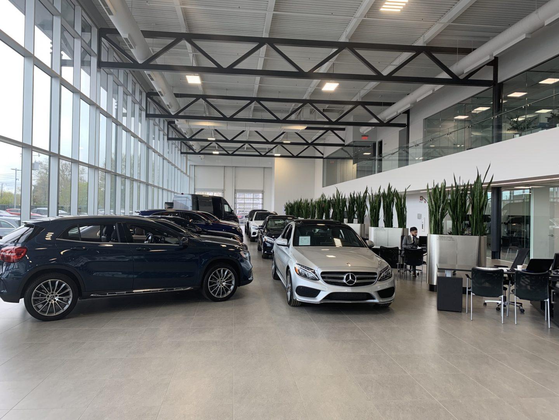 Showroom floor of Mercedes-Benz Rive-Sud