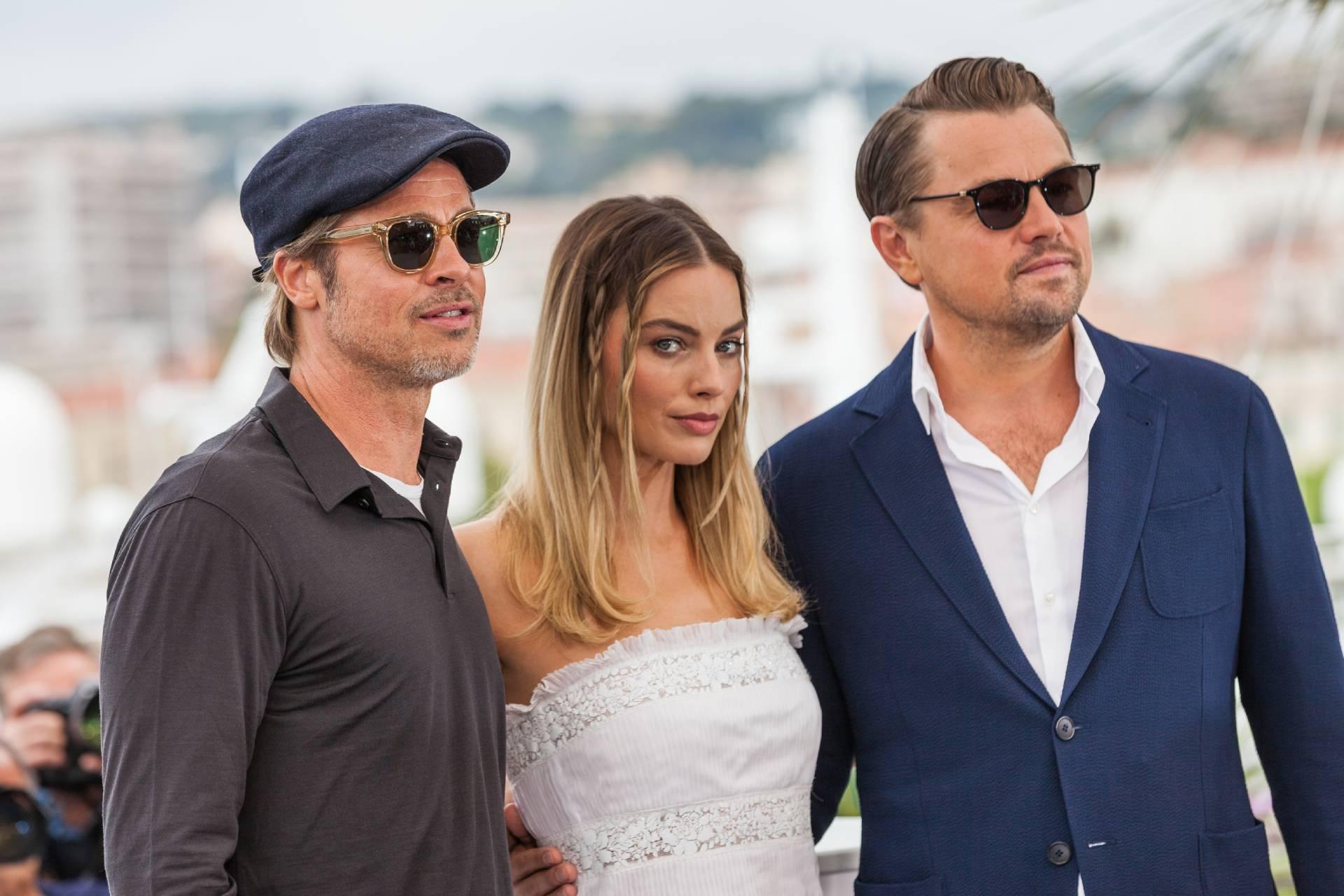 CANNES, FRANCE. May 22, 2019: Brad Pitt, Margot Robbie and Leonardo DiCaprio. | taniavolobueva / Shutterstock.com