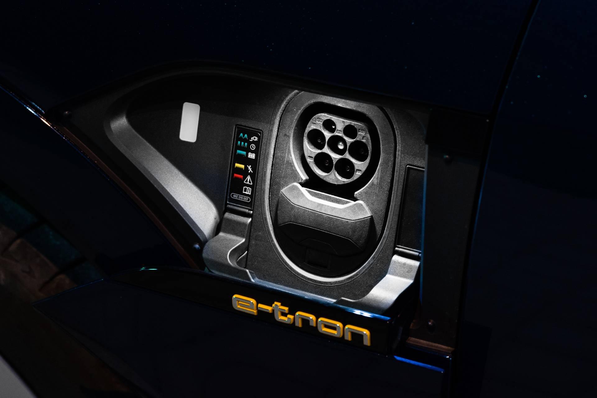 Audi e-tron charging port.