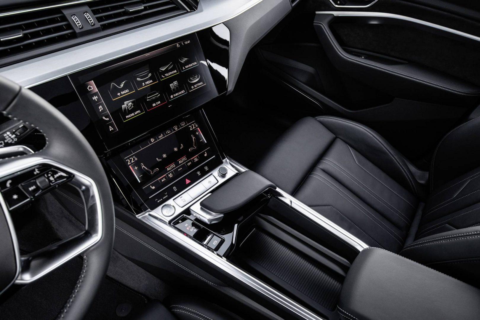 Audi e-tron center console.