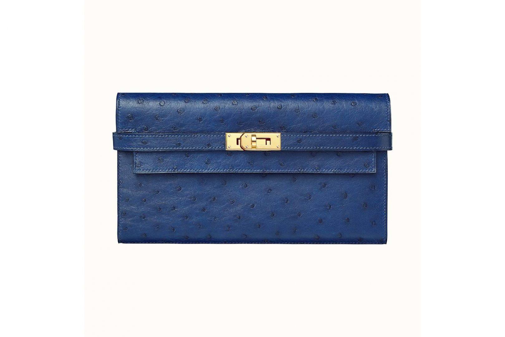 Hermès Kelly Classic wallet, Bleu Iris.
