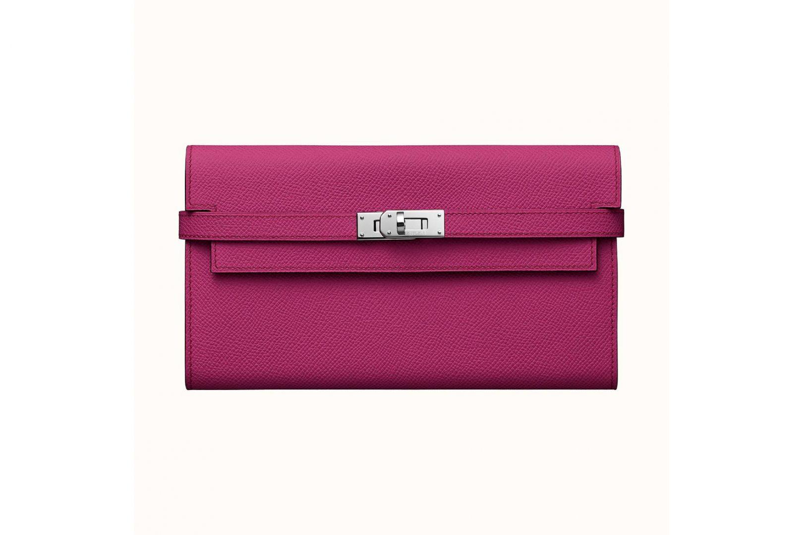 Hermès Kelly Classic wallet, Rose Pourpre.
