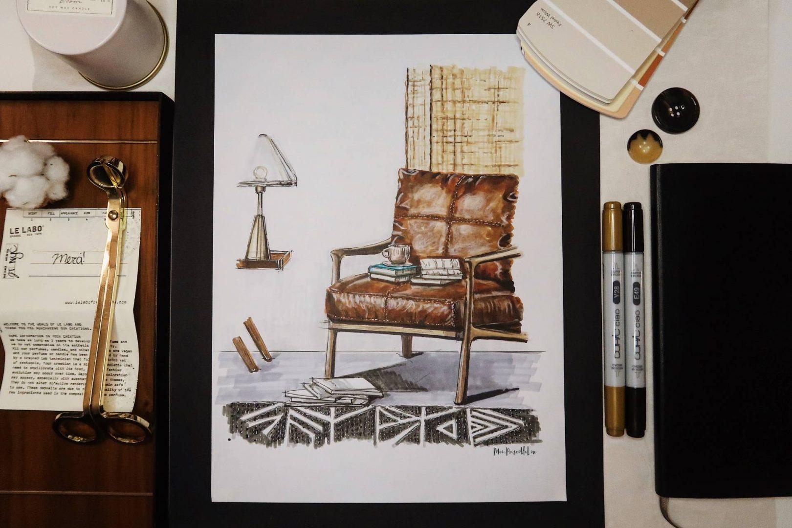 Sketch by Instagram influencer, moi_priscillalin.
