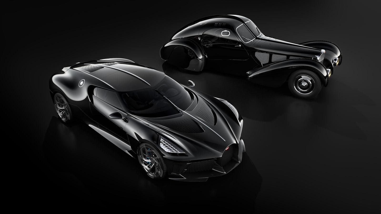 Bugatti La Voiture Noire and Type 57SC. Credit: BUGATTI Newsroom