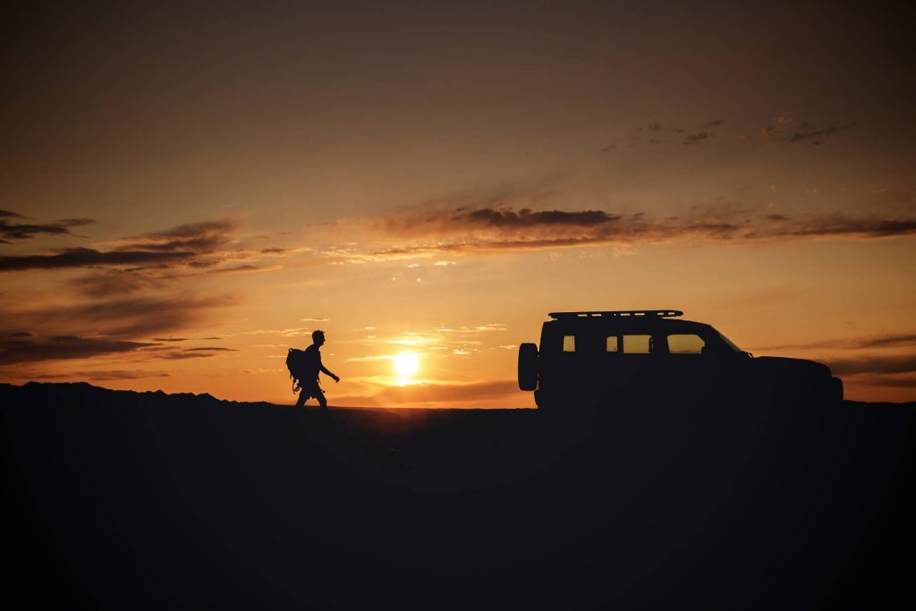 Land Rover Defender silhouette. Credit: Land Rover Newsroom