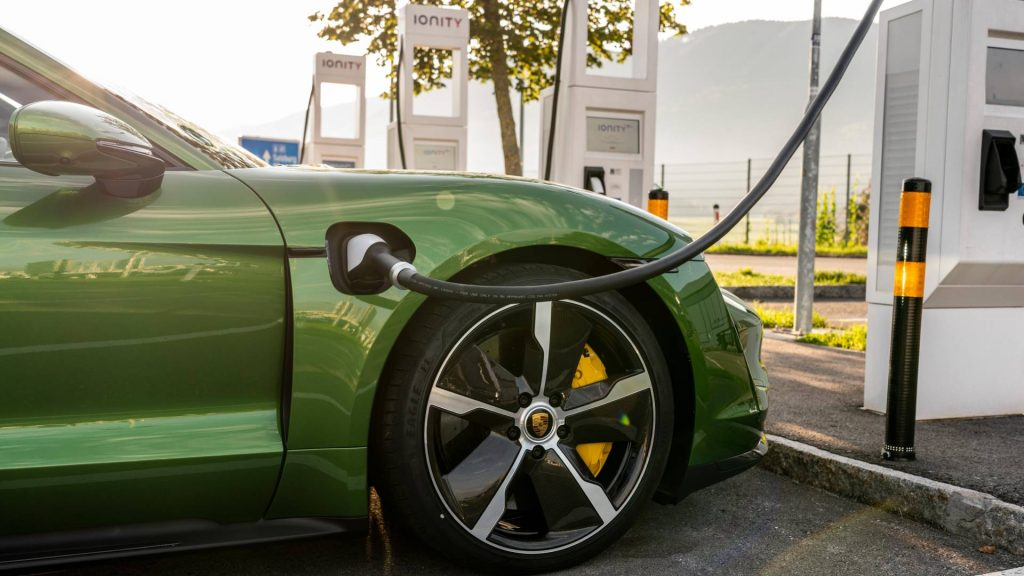 Porsche Taycan charging. Source: Porsche Newsroom