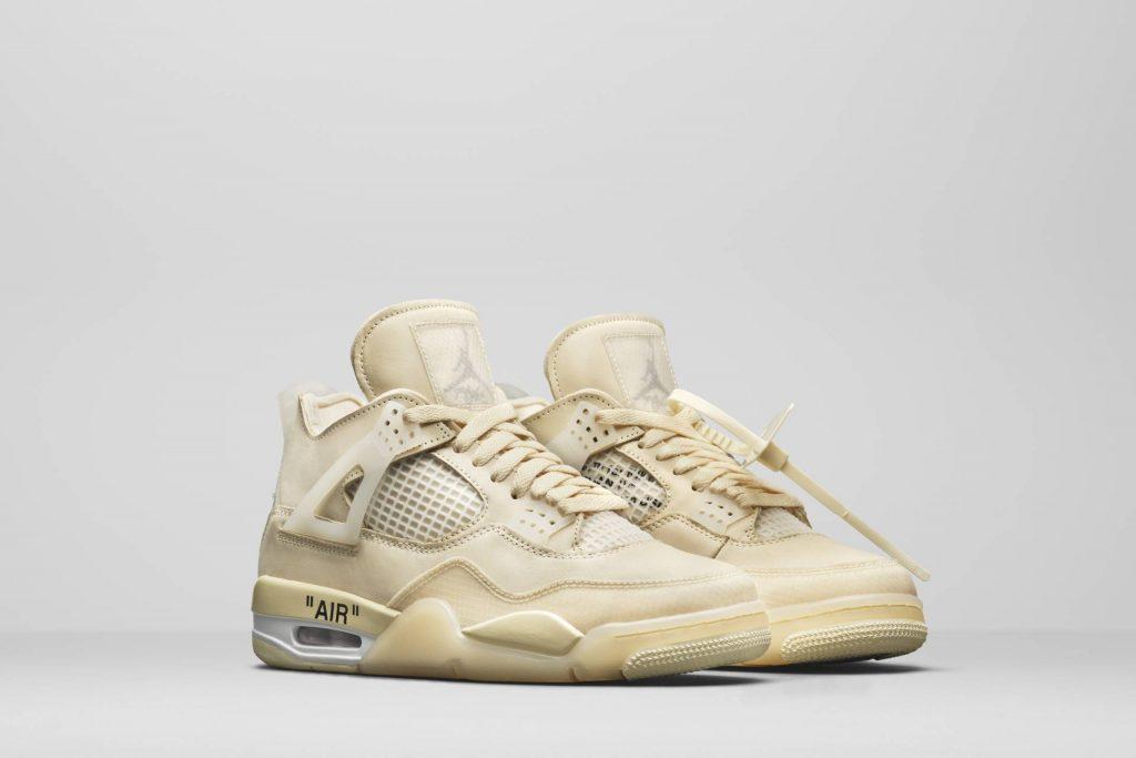 Air Jordan 4 x Off-White. Credit: Nike News
